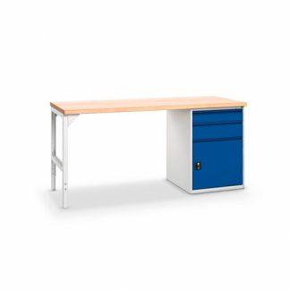 Pracovný stôl so zásuvkami a dvierkami, šírka 2000 mm