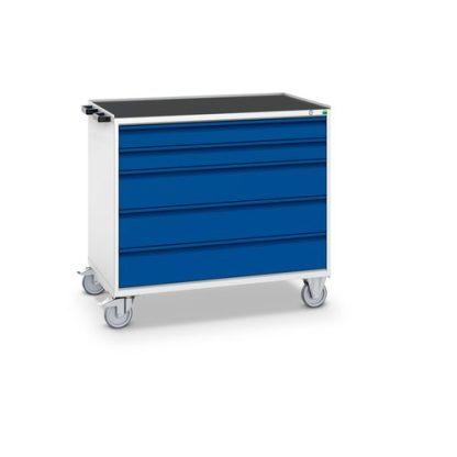 Pracovný vozík so zásuvkami, šírka 1050 mm