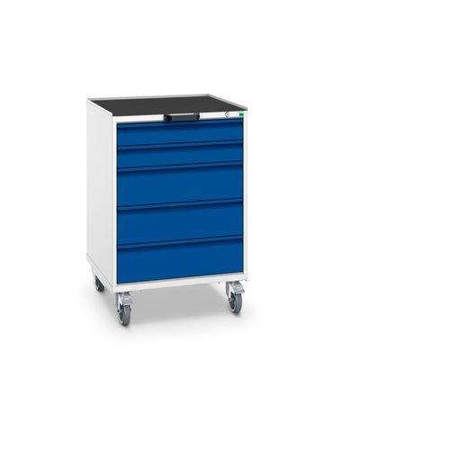 Pracovný vozík so zásuvkami, šírka 650 mm