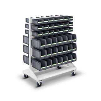 Perfo mobilný panel s plastovými boxmi