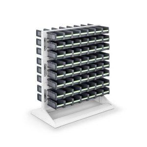 Panel s plastovými boxmi