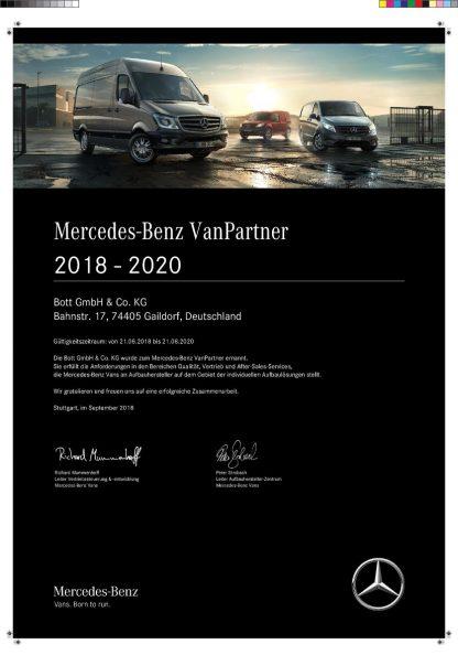 bott Mercedes-Benz VanPartner
